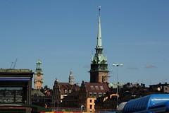 Storkyrkan and Tyska Kyrkan, Gamla Stan (blondinrikard) Tags: skyline stockholm gamlastan churchtowers kyrktorn