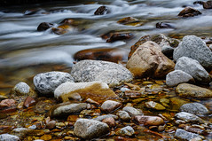 Mountain stream (TanzPanorama) Tags: longexposure nature water creek river stream stones