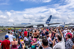 "A380 at Farnborough air show • <a style=""font-size:0.8em;"" href=""http://www.flickr.com/photos/125767964@N08/14740750231/"" target=""_blank"">View on Flickr</a>"