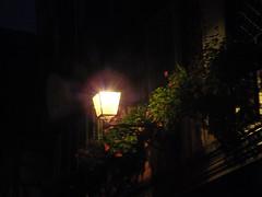 Puntos de luz... (Ms. Briongos) Tags: flowers light france flores flower luz night luces noche frankreich farola balcony flor frança colmar alsace soir balcon francia alsacia