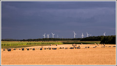 Angry skies (Maw*Maw) Tags: sky france rural canon dark eos golden skies wind cloudy farm farmland hour angry 7d land agriculture turbine hdr turbines civray