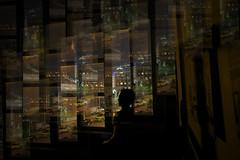 Can't Sleep New York 2 (JB Knibbs) Tags: city longexposure light urban newyork window silhouette night multipleexposure citylights insomnia
