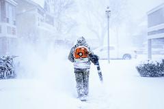 Snowman (M$ingh.) Tags: winter ohio usa snow canon snowman snowstorm athens snowblower eosrebel athensohio snowblowing stationstreet pregamewinner canont4i polarvortex