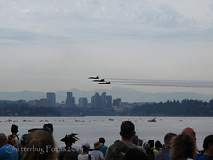 Blue Angels (Shutterbug Fotos) Tags: seattle sky clouds plane air jets navy aerial acrobatics lakewashington blueangels seafair fa18hornets