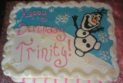 Olaf Frozen Cake by Pam, Linn County, Iowa, www.birthdaycakes4free.com