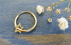 Carry Your Star. 14K Gold Star Hoop Earring. Recycled Gold. Eco Friendly. One Small Hoop Earring. Gold Star Earring. (Noa Sharon Designs) Tags: sky abstract art classic love fashion metal modern hoop gold star amazing shiny designer handmade 14 joy fine earring craft sharon jewelry charm collection gift metalwork designs accessories 14k delicate universe stud handcraft goldsmith fabricated jeweler karat accesory glittering metalsmith jewelrydesigner