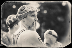 Triathlete (nataliekrovetz) Tags: portrait blackandwhite bw woman sports race swim bokeh events charlottesville athlete triathlon alienskin exposure6 charlottesvillemultisports jeffsprint