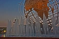 Unisphere, Flushing Meadows Park (Queens) - New York City (Michael6076) Tags: park newyorkcity ny newyork fountain night meadows fair queens worlds 1964 unisphere 1965 flushing