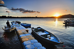 小碼頭落日 Sunset scenery (愚夫.chan) Tags: taiwan taipei 臺灣 台北市 淡水河 暮色 sunsetscenery 福安河濱公園 小碼頭落日