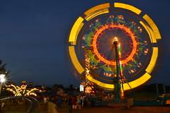 Ferris Wheel at night (radargeek) Tags: county carnival oklahoma ride fair ok elreno canadiancountyfreefair