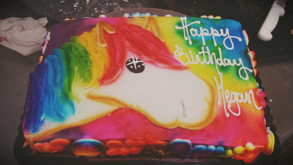 Tye Dye Unicorn Sheet Cake Tyedye Magical Unicorncake Tyedyecake