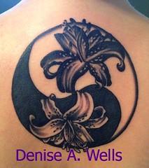Stargazer Lily Yin Yang Tattoo Design by Denise A. Wells (Denise A. Wells) Tags: tattoo wells designs denise ideas a deniseawellstattoodesigns yinyangtattoodesignbydeniseawells tattoofontsbydeniseawells deniseawellsyinyangtattoo deniseawellstattoodesignideas