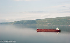 Big tanker in the Fjord by Narvik (panosplakides) Tags: lake norway boat iron ship cargo oil fjord ore tanker narvik ofotfjord