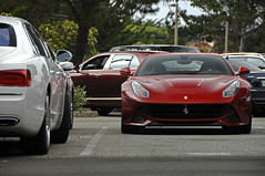 F12 (Ian Jones Photography) Tags: red beach spur flying italian fast ferrari front pebble exotic carmel british supercar bentley f12 v12 engined