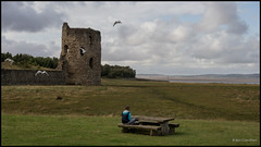 the girl at the castle.... (bevscwelsh) Tags: northwales flintcastle olympus1250 olympusem5 walescoastalpath