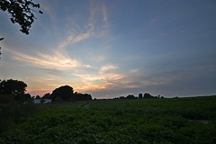 Twilight Sunset (DaveJC90) Tags: camera blue light shadow sky cloud sun sunlight colour detail tree green slr field night digital dark lens landscape evening suffolk twilight nikon colours village view angle cloudy wide shapes sunny wideangle sharp crop shape croped sharpness d5100