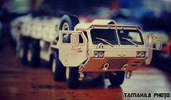 A Military Cargo Truck (tamahaji) Tags: detail truck desert military version tan cargo 150 sword a2 highly oshkosh realism diecast twh hemtt m985