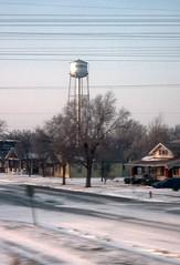 Snow in Burrton, Kansas (1993) (Duncan_and_Gladys) Tags: us unitedstatesofamerica kansas burrton