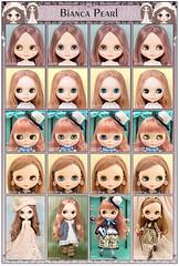 Neo Blythe Comparison: Bianca Pearl (BiPe), Vinter Arden (VA), Heart of Montmartre (HoM), and Princess Milk BisQuit de Q-pot (Q-pot)