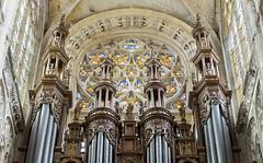 Caudebec-en-Caux - Tourelles du grand-orgue (B. Milanese) Tags: case organ buffet caudebec caudebecencaux xvith xvie d7000