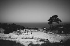 (manfri) Tags: travel sea blackandwhite landscape ancient ruins wind 28mm greece rhodes ricohgr