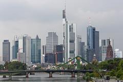 Frankfurt skyline (bcmng) Tags: reflection architecture skyscraper frankfurt main prism architektur glas ecb mainriver ezb coophimmelblau europeancentralbank deconstructivism frankfurtskyline germanarchitecture archidose archdaily ezbneubau ezbfrankfurt