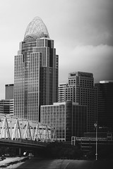 Got a few good shots in today before the rain. (jaworekjim) Tags: city urban blackandwhite bw building tower architecture buildings cincinnati structure adventure explore architect tall mycity