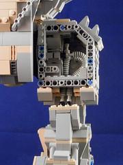Upper leg frame and internals (Canis Arms Corporation) Tags: robot lego battetech mecha mech moc battlemech