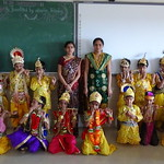 Students dressed as krishna