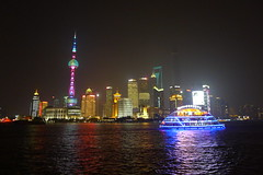 Shanghai at night - Pudong (vtpoly) Tags: china travel skyscrapers shanghai traveling pudong tallbuildings polywoda