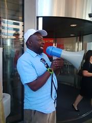 Maxie Hayles Representin @ Kingsley Burrell protest - 8 Sept 2014