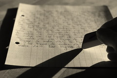 Et si on rcrivait notre vie ... (Et si, et si ...) Tags: noiretblanc feuille ecriture gomme leslignesdenotrevie touteffacerpourtoutrecommencer