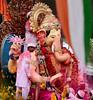 Lalbaugcha Raja with Indian flag ([s e l v i n]) Tags: india elephant statue ganesha god ganesh idol bombay elephantgod mumbai hinduism deity raja visarjan ganpati lordganesh lalbaug hindugod ganeshotsav lalbaugcharaja ganeshvisarjan ganeshfestival hindudeity chinchpokli ©selvin lalbaugcharajavisarjan