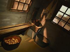 Classic farm interior (andzwe) Tags: windows light classic netherlands dutch contrast vintage painting potatoes colours farm interior space interieur © nederland ramen enschede twente boerderij teil klassiek aardappels twentsewelle andzwe panasonicdmcgh4
