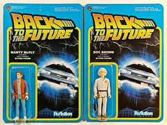 Funko x Super7 – ReAction Figures – Back to the Future – Marty McFly & Doc Brown – Card Front (My Toy Museum) Tags: brown back action future figure doc marty reaction mcfly funko super7