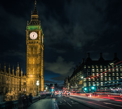 London by Night (Martijn van Sabben) Tags: bigben uk england london londen engeland night nightphotography street longexposure exposure cool clouds blue lines architecture travel streets cars people movement traffic evening nacht nachtfotografie ngc m43nl mybestshot bestphoto outdoors outside nice awesome picture photography timeoutlondon visitlondon