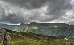 Langdales from Lingmoor Fell (BoblyP) Tags: boblyp lakedistrict lakes langdalepikes langdalevalley cumbria lingmoorfell england englishcountryside englishlandscape englishlakes clouds pikeofstickle harrisonstickle paveyark stickleghyll