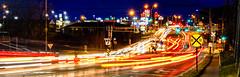 58:365 - Commute (LostOne1000) Tags: 58365 hiawatha cy365 3652017 365the2017edition carlighttrails iowa 27feb17 lights cedarrapids lighttrails interchange day58365 commute blairsferry cars railroadcrossing unitedstates signs shops trafficlights us
