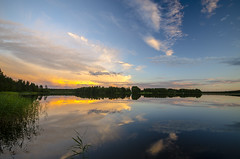 After a storm (ArtDvU) Tags: heavy clouds cloudy calm evening finland landscape sigma 1020 nikon d7000 northern ostrobothnia oulu lake lakescape lakeshore reeds summer blue sky wideangle
