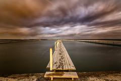 Wet Prints (Crouchy69) Tags: sunset dusk landscape seascape ocean sea water coast clouds sky jetty pier wharf boardwalk narrabeen pool sydney australia