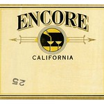 Wine label, Encore California