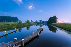 Misty sunset (koos.dewit) Tags: sunset holland canon reflections landscape zonsondergang thenetherlands bluehour groningen garmerwolde spiegelingen 1740mml leefilters canon6d blauweuurtje koosdewit