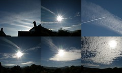 geoengineered sky 06.31-09.18 (rospix) Tags: uk blue light sky sun nature weather june collage wales clouds sunrise countryside flight hills chemtrails 2014 planr globaldimming chemclouds weathermodification rospix solarradiationmanagement stratosphericaerosolspraying
