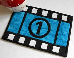 Movie Mug Rug (The Patchsmith) Tags: pattern quilting patchwork applique miniquilt mugrug patchsmith hobbyfun
