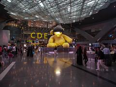 P1010005 (Ben Jones au) Tags: bear travel holiday airport photos pics olympus international lampshade hamad omd doha qatar em5