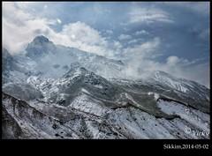 Mighty (V.i.c.k.y) Tags: blue sky india white mountain snow ice climb nikon rocks hill mighty sikkim d90 yumthang yumesangdong