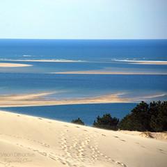 Atlantic from the Dune du Pyla ((Virginie Le Carré)) Tags: ocean sea france sand dune sable pyla atlantique gironde arguin tourlinguet