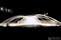 Giochi d'acqua (EmozionInUnClick - l'Avventuriero's photos) Tags: fontana notturna scie montecarotto