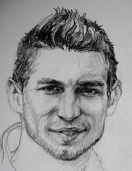 Dries Mertens (annevancamp) Tags: portrait art pencil football drawing soccer tekening potlood
