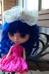 Mel looks pretty in pink